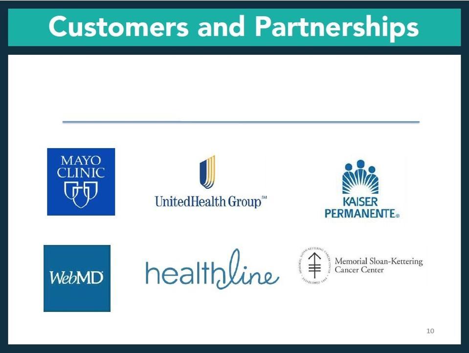 slide featuring logos of medical organizations