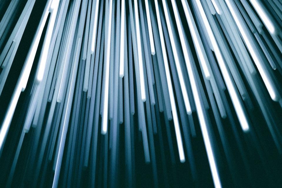 Light representing fiber optic cables