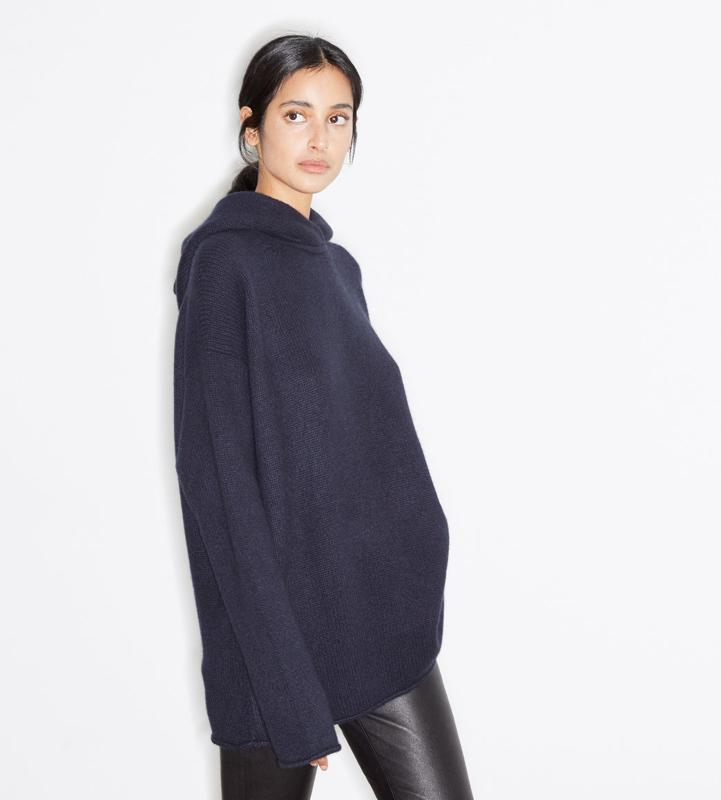 Oversized Knitted Cashmere Hooded Sweatshirt by REAY