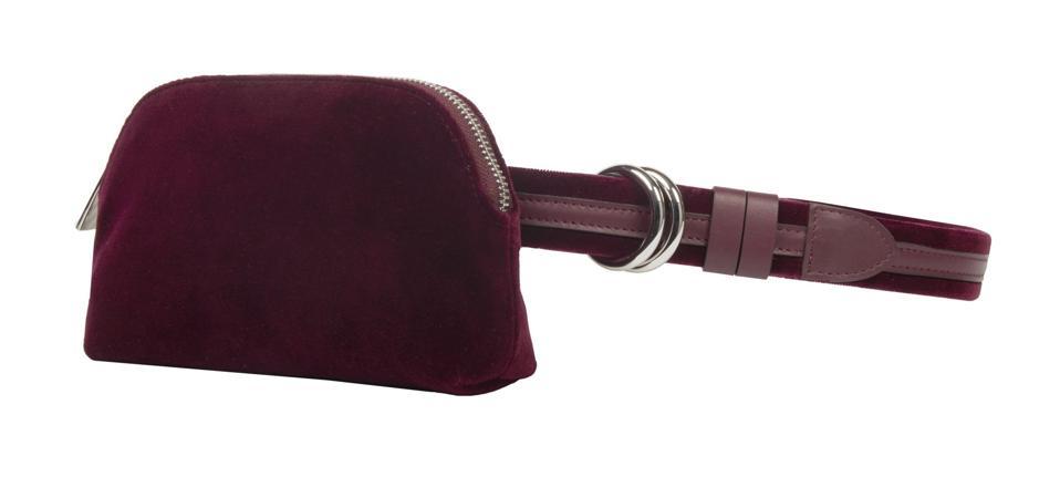 Meli Melo bags Beltbag Burgundy Velvet for Women by Meli Melo