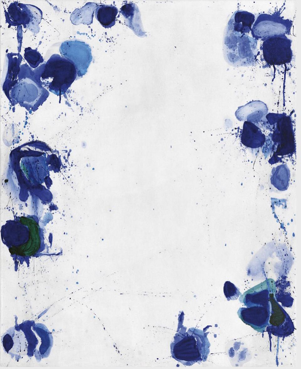 Online Viewing Room Art Basel Galerie Carzaniga, Blue 3, 1960 by Sam Francis