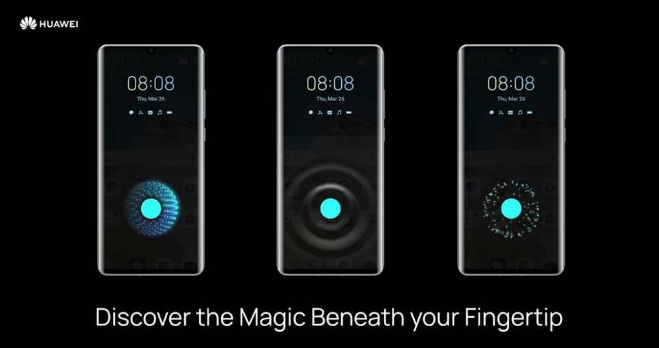 Animations for the fingerprint sensor in EMUI 10.1