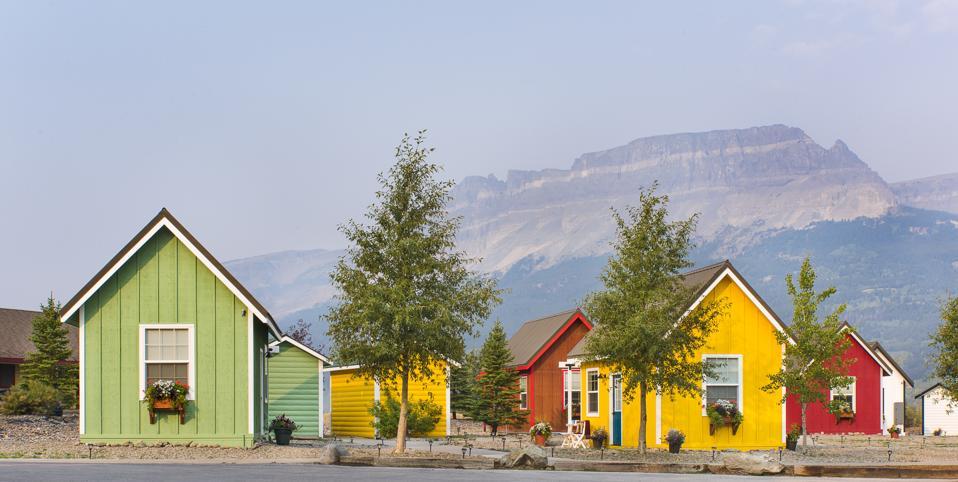 Campsite in Glacier National Park