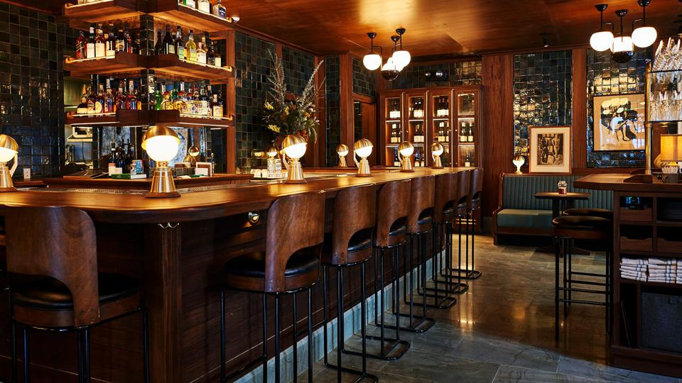 The bar at Freehand, New York