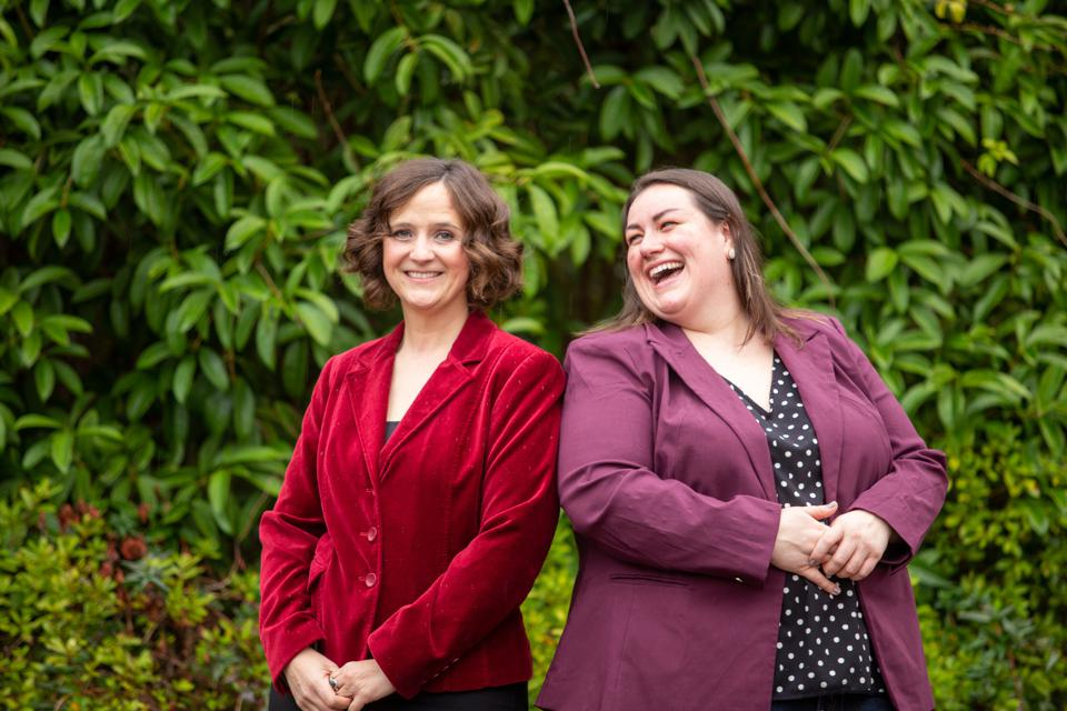 Michelle Egger and Leila Strickland, co-founders of BIOMILQ, smiling