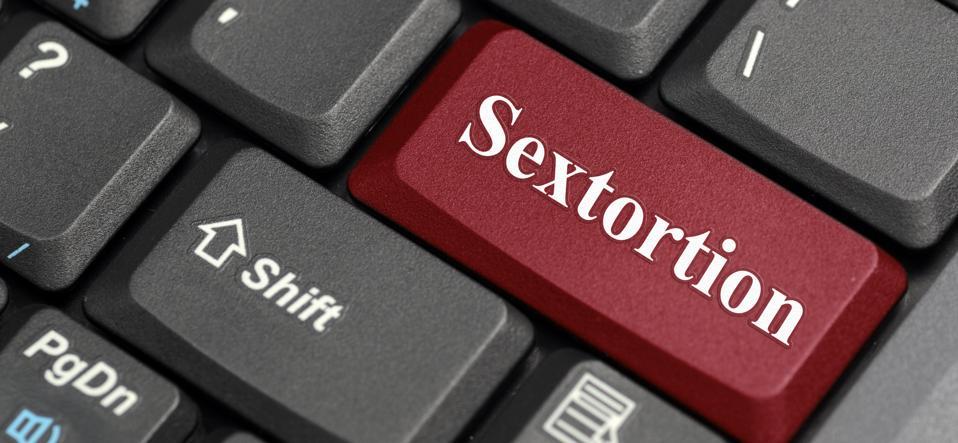 Sextortion key on keyboard