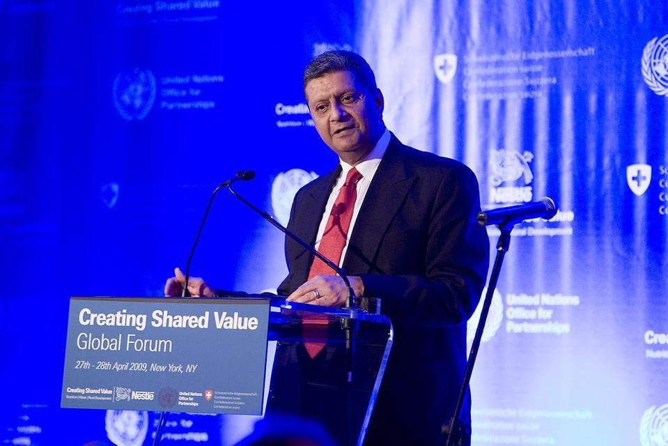 Amir Dossal, Chairman, Global Partnerships Forum, image via Nestle