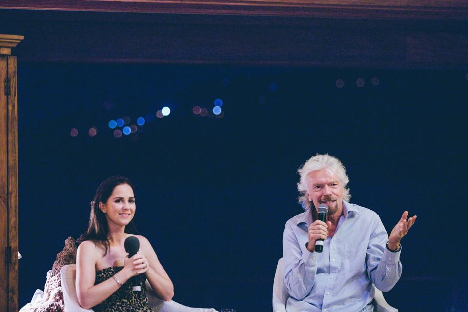 Fiona Macintyre, of Forming Impact with Sir Richard Branson on Neckar Island