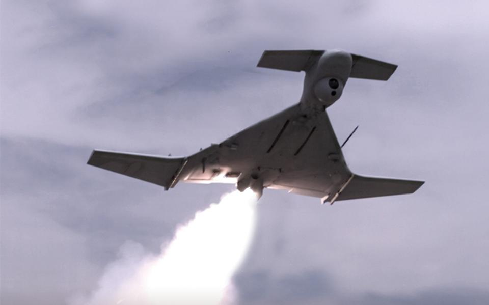 A jet-powered drone