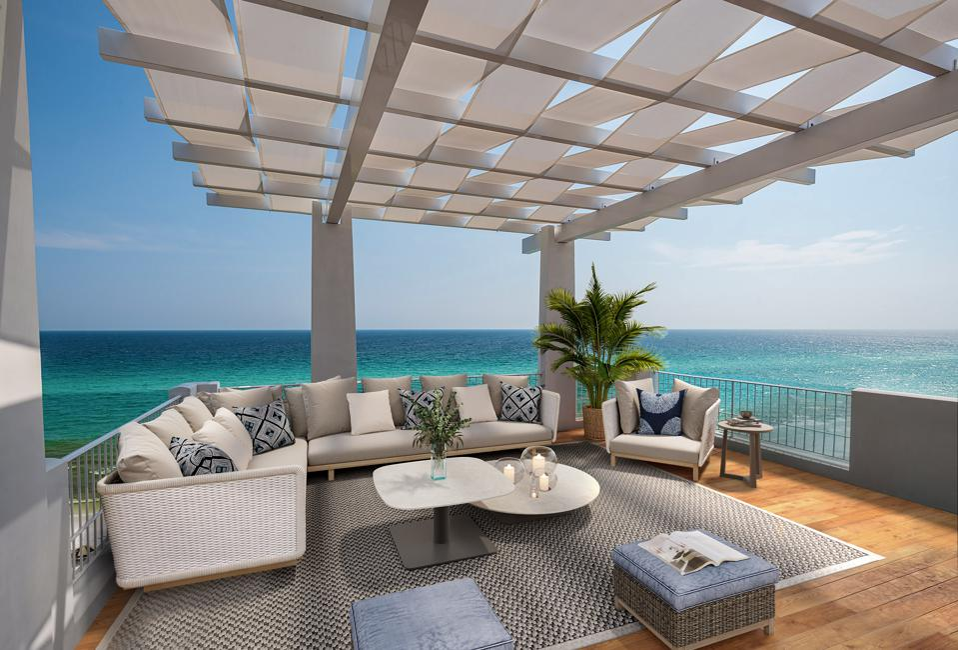 Luxurious wood deck