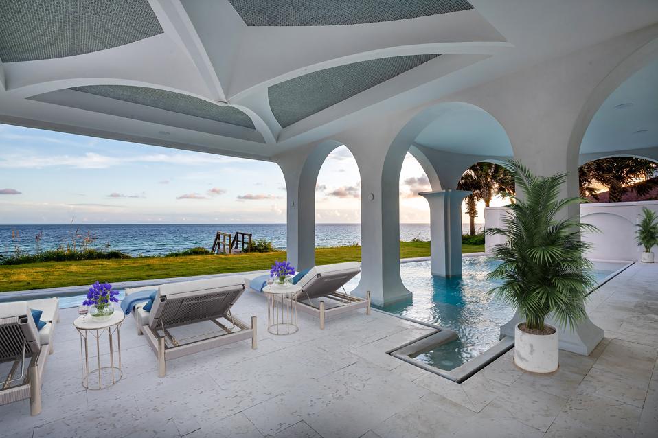 Luxury patio by the ocean