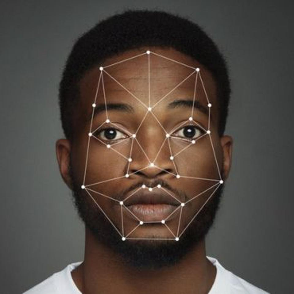 Facial recognition software in use