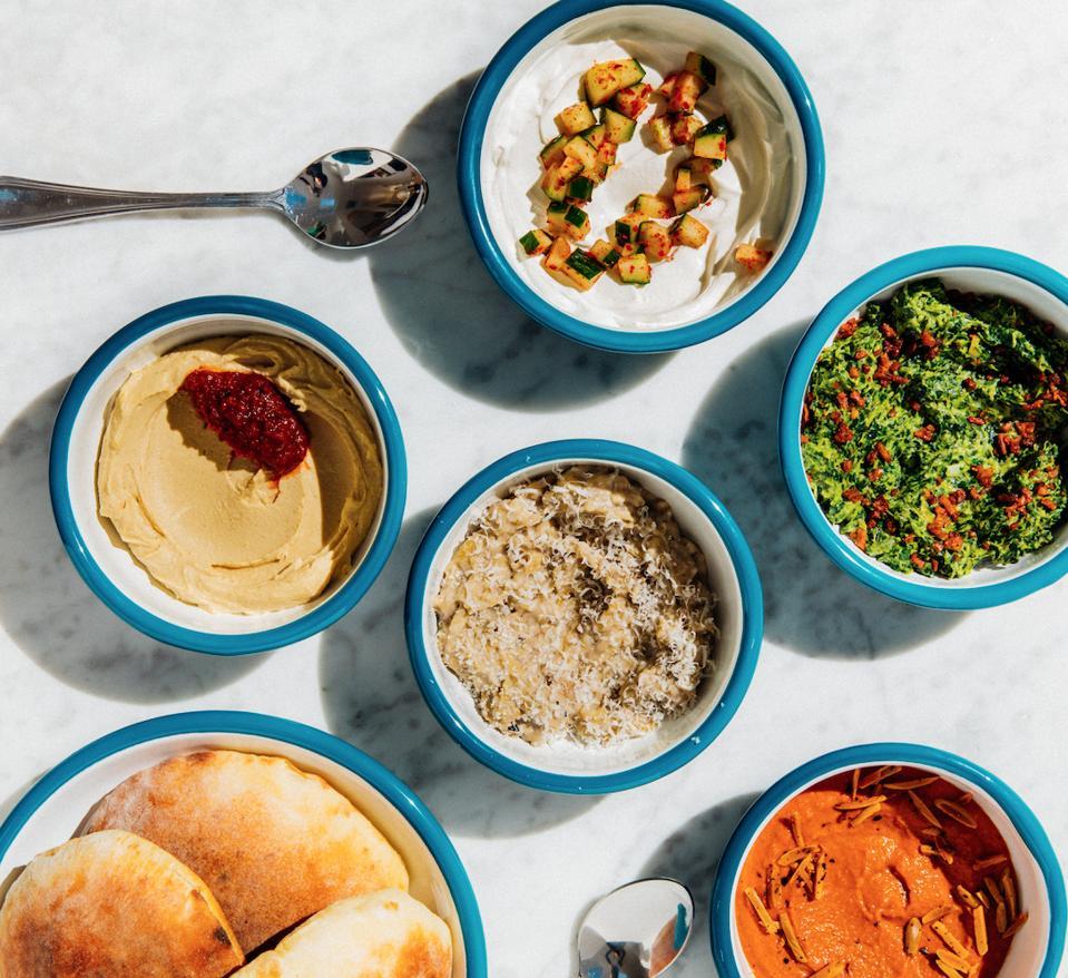 Mediterranean-meets-California cuisine