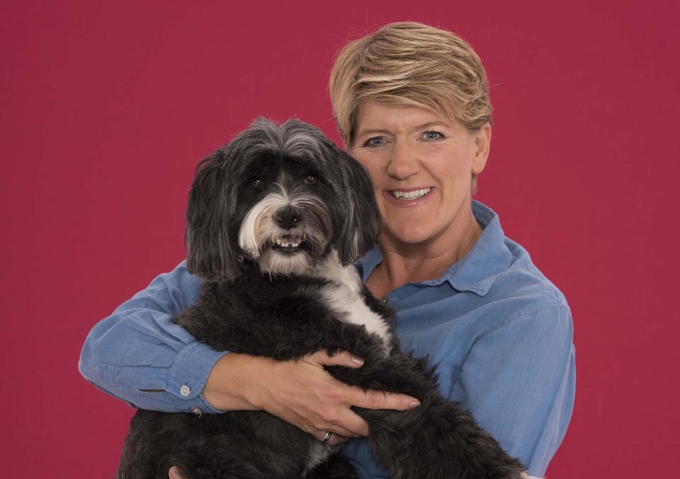 Clare Balding and her dog Archie are supporting Pride Dogs For Guide Dogs one of the categories of the Virtual Dog Show by Guide Dogs
