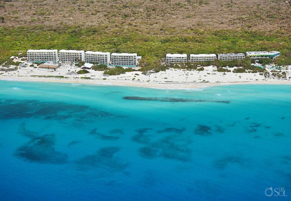 Empty beach at Palmaia Hotel in Playa del Carmen