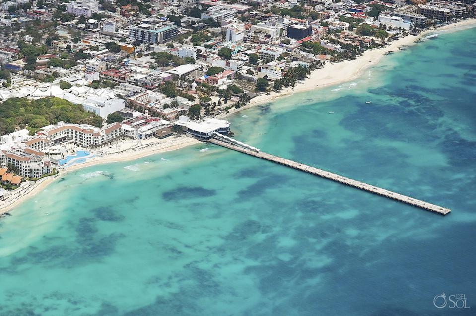Playa del Carmen ferry pier to Cozumel without ferries or boats