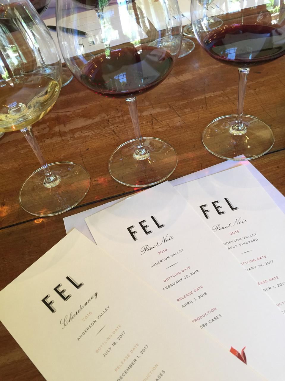 FEL is the sister winery of Cliff Lede in Anderson Valley.