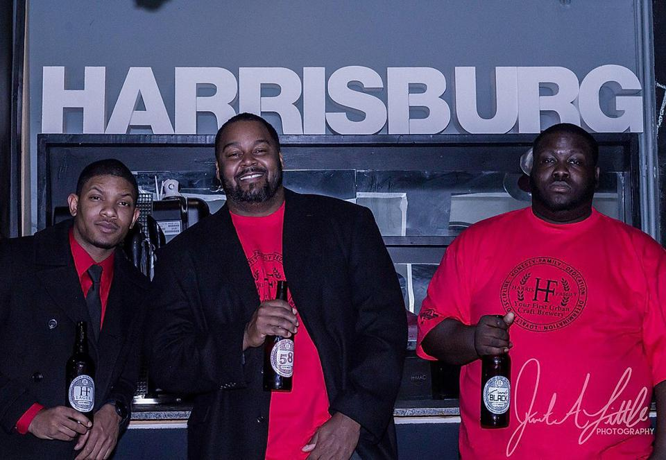 Tim White, JT Thomas, and Shaun Harris, the co-founders of Harris Family Brewery