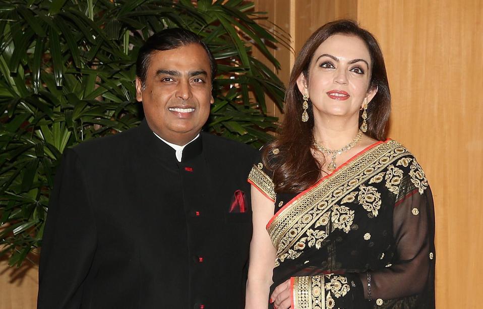 Mukesh and Nita Ambani.