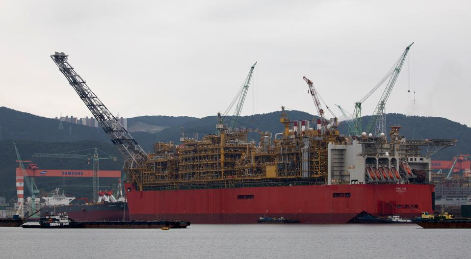 Royal Dutch Shell's Prelude floating liquefied natural gas (FLNG) vessel