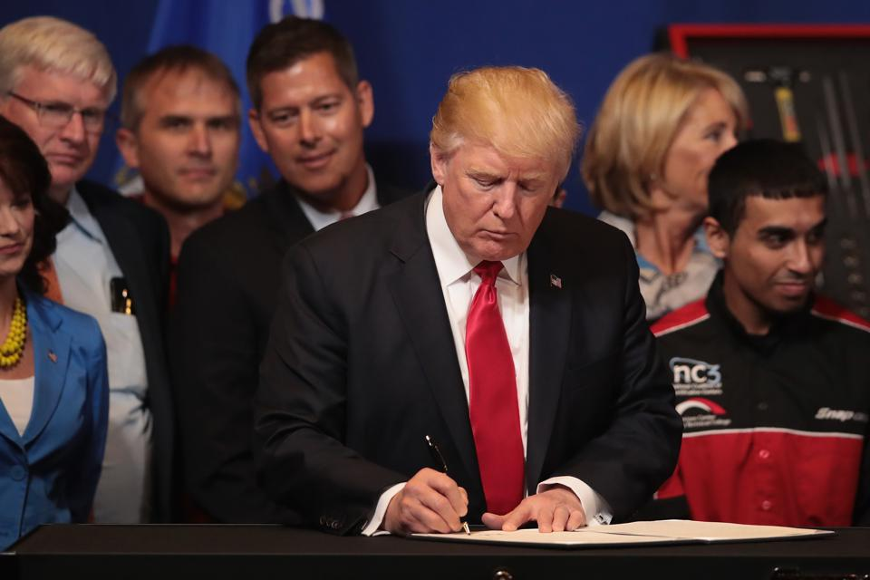 President Trump Visits Snap-On Tools In Kenosha, Wisconsin