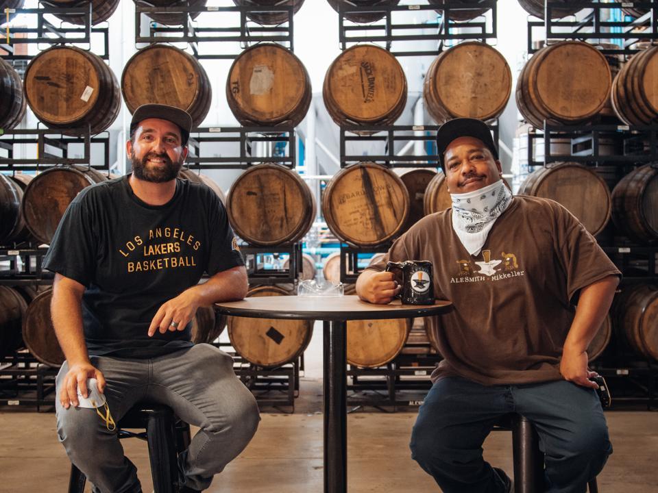 Kyle Harrop, founder of Horus Aged Ales, and Will Izor of AleSmith Brewing