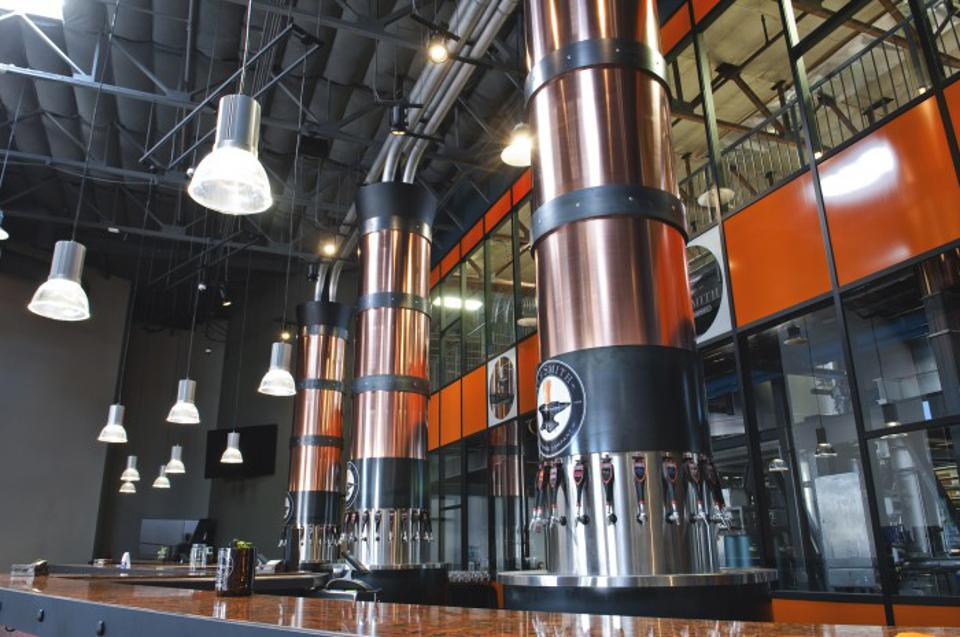 The taproom at AleSmith Brewing in San Diego