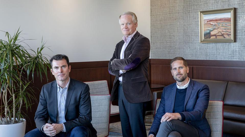 Catalyst OZ Fund Partners – Jim Sorenson (standing), Jeremy Keele and Patrick McKenna (seated).