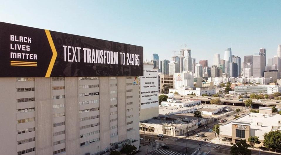 Black Lives Matter Billboard LA