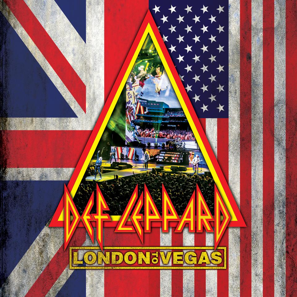 Def Leppard's new London to Vegas live set chronicles the group's full performance of the Hysteria album at O2 Arena in London and the group's ″Hits Vegas″ residency at Zappos Theater at Planet Hollywood in Las Vegas (Photo courtesy of Eagle Rock Entertainment)