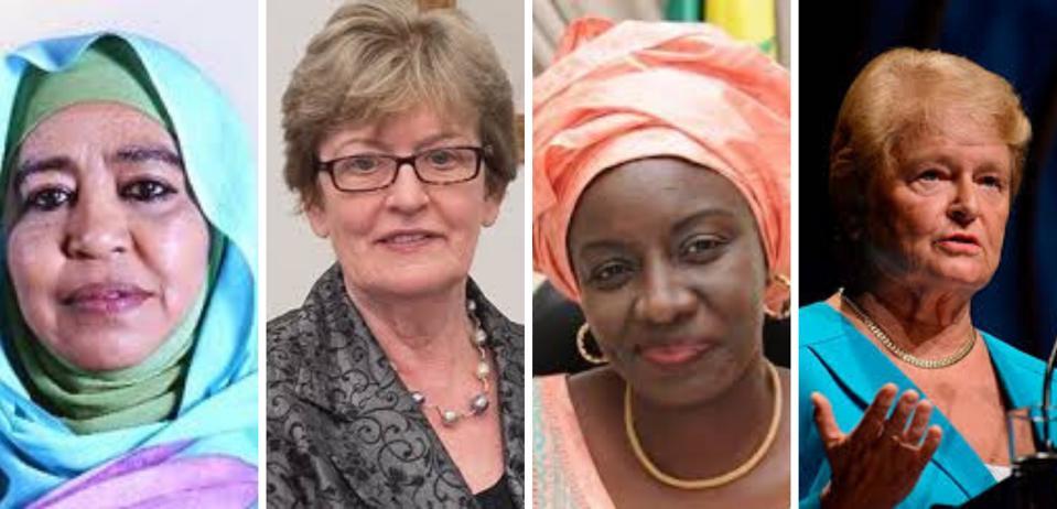 four women political leaders