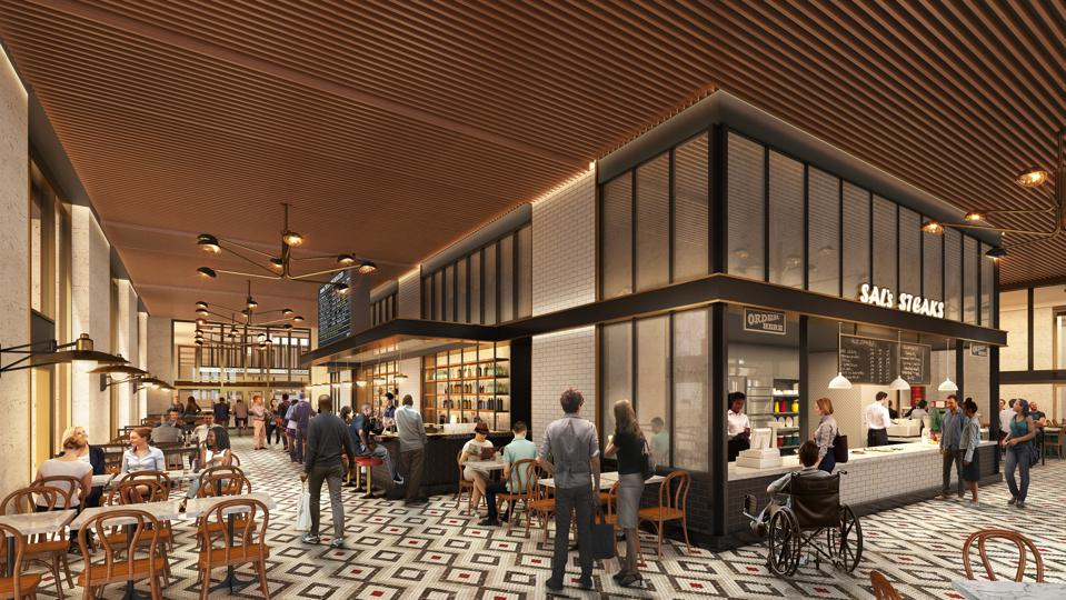 Food and beverage will be prominent at the Grat 30th Street Station