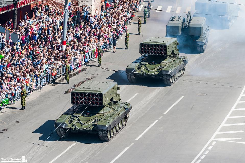 Russian rocket launcher vehicles