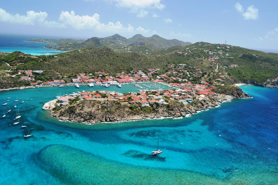 Gustavia, the capital of St. Barths is set within a perfect cove