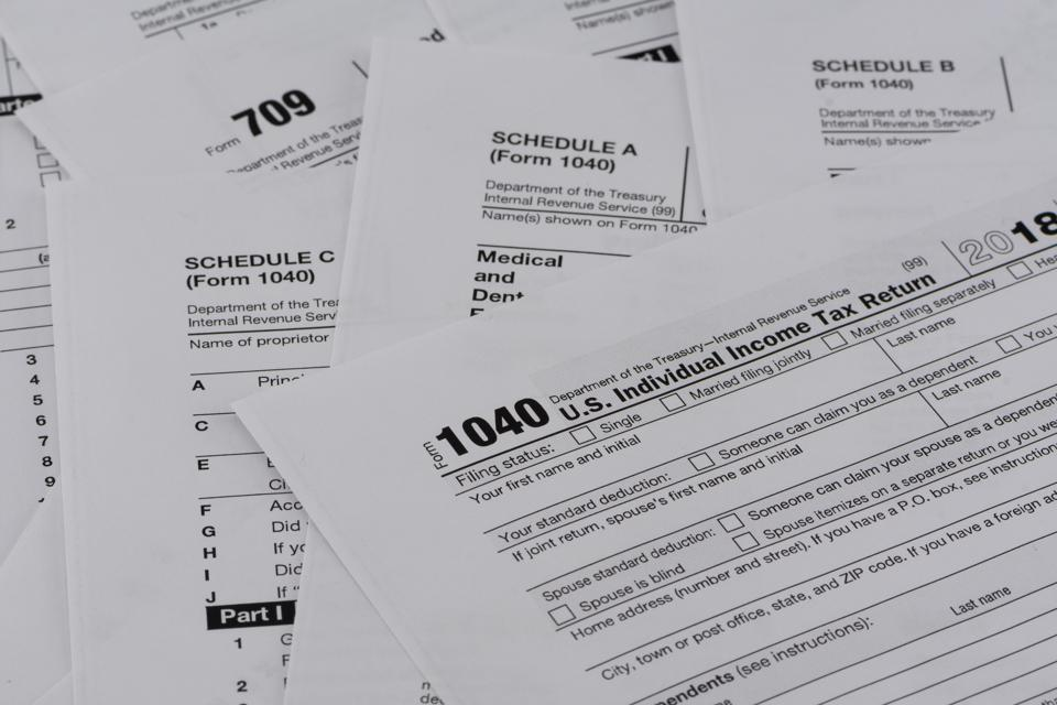 United States Internal Revenue Tax Return Forms