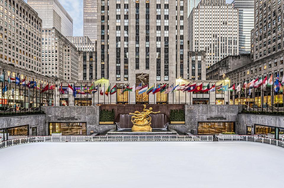 Rockefeller Center Skating Rink during the pandemic