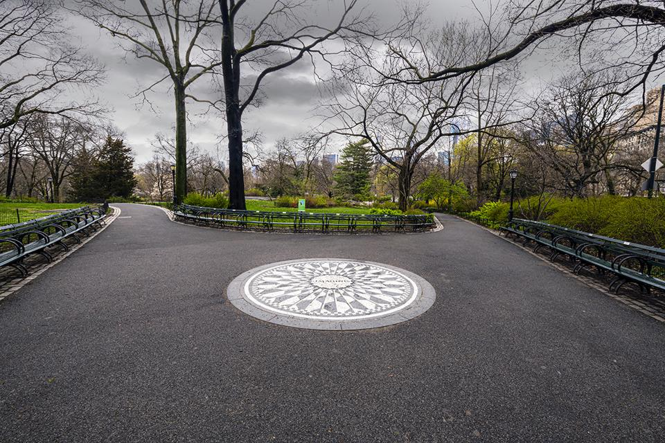 Strawberry Fields in Central Park, NYC, March, 2020 during the pandemic