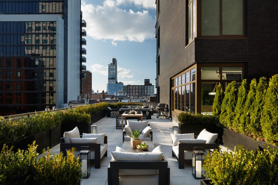 Outdoor space at 196 Orchard Street.
