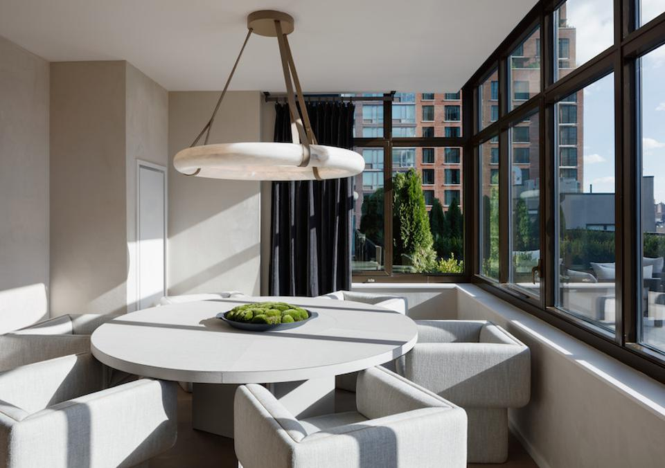 A chic dining area