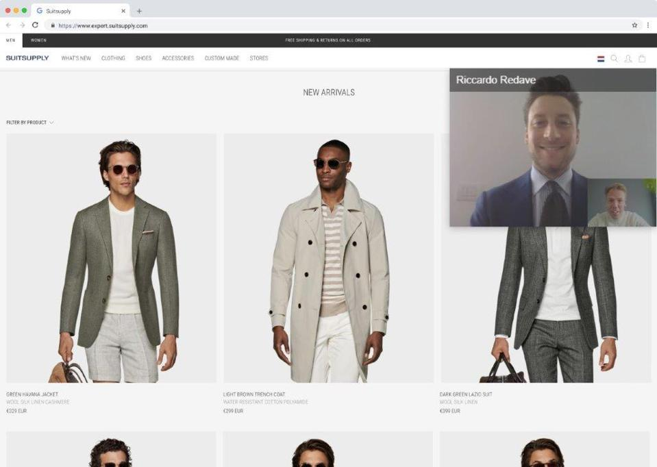 Suitsupply's virtual shopping