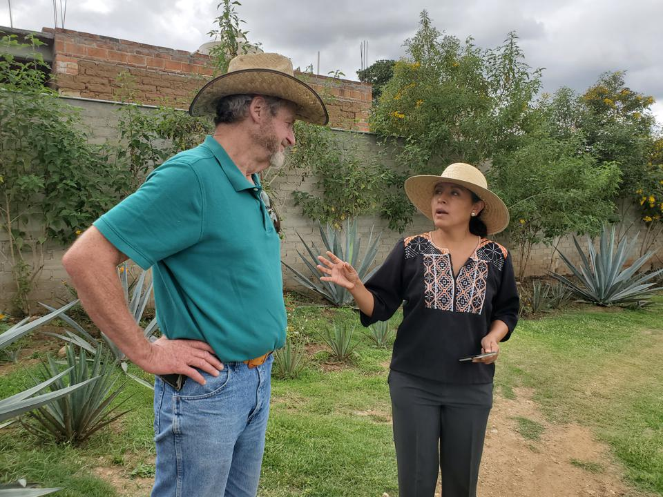 Mezcal maker and agave researcher Graciela Angeles Carreño shares her knowledge with fellow mezcal maker Anthony Raab.