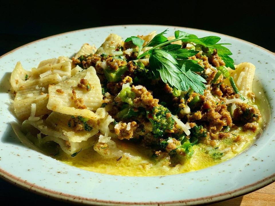 Homemade pasta at Vinateria
