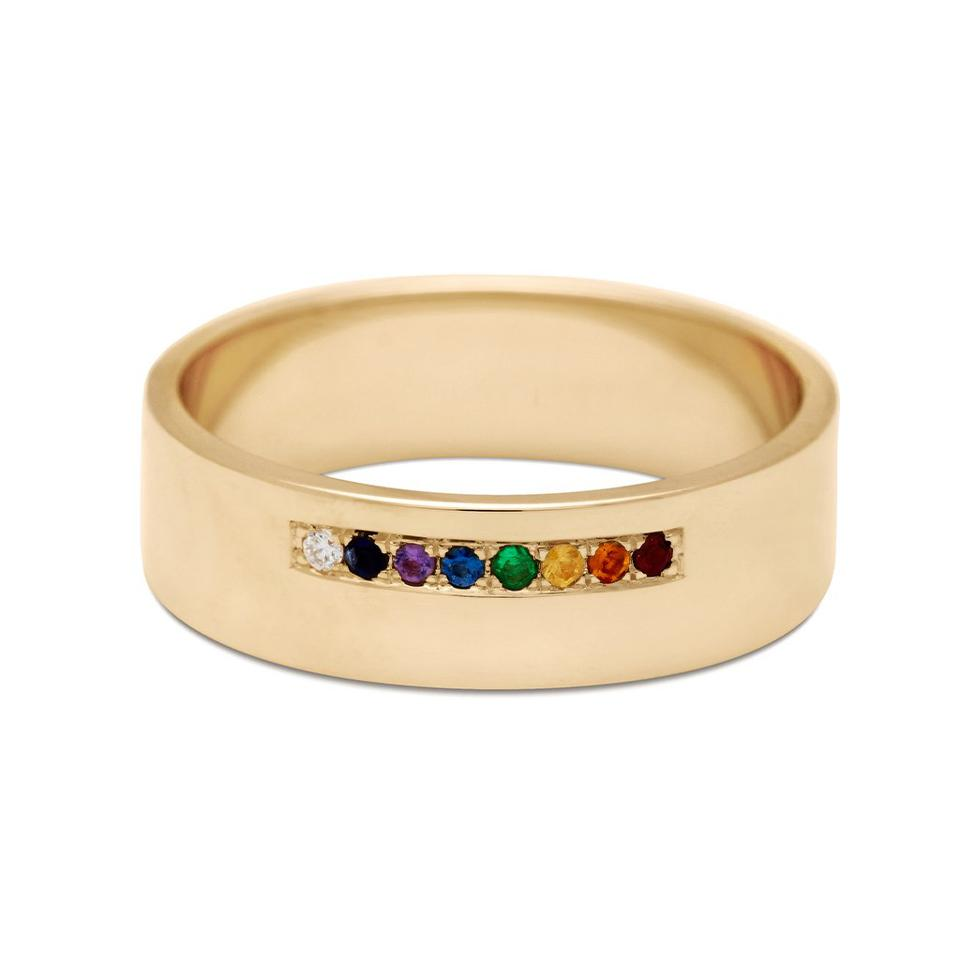 Meridian Rainbow Band unisex commitment ring