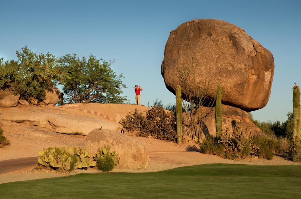 Man playing golf at Boulders Resort & Spa Scottsdale