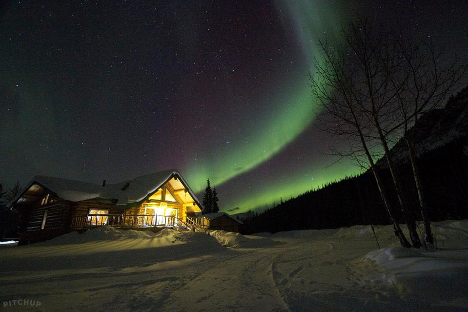 Log Cabin at Wilderness Lodge in Alaska