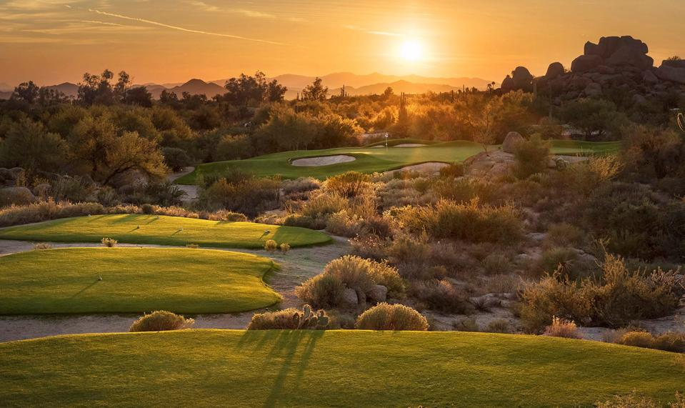 Sunset at Boulders from the Golf Course