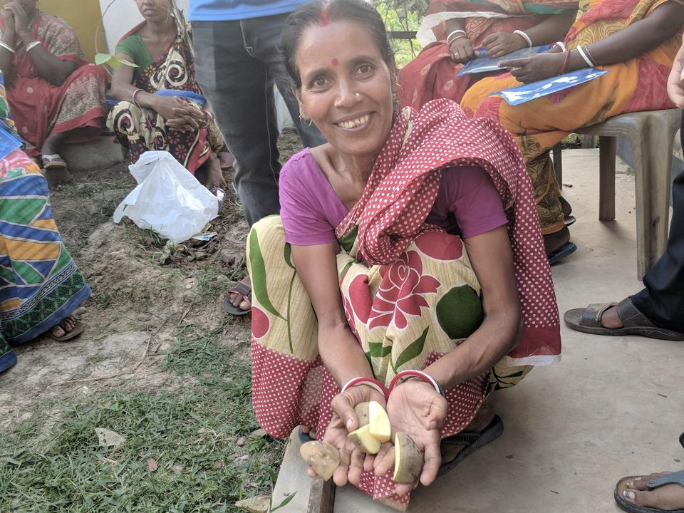 A potato farmer who is part of the PepsiCo and USAID land rights program in India.
