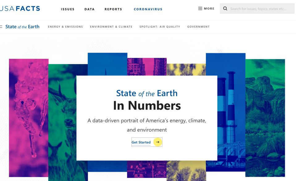 USAFacts.org, State of the Earth report