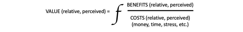 Value Equation: Benefits/Costs