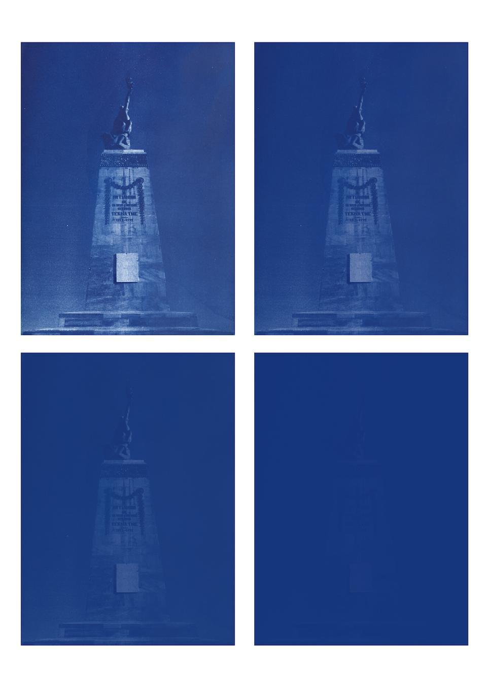 Sponsored by BMW for 2019 Paris Photo, Emeric Lhuisset ″L'autre rive″ concludes with a series of fading blue renderings through cyanotype